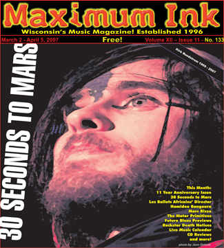 30 Seconds To Mars on the cover of Maximum Ink - March 2005 - photo by Jenn Dohner