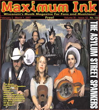 Asylum Street Spankers on the cover of Maximum Ink February 2007
