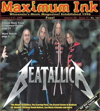 Beatallica on the cover of Maximum Ink January 2008