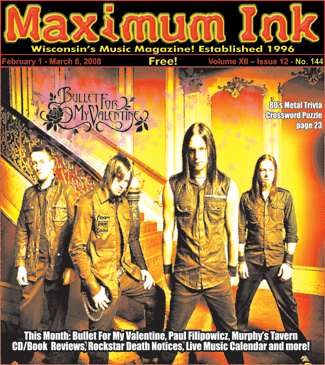 Bullet For My Valentine on the Cover of Maximum Ink for February 2008