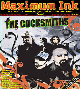 Milwaukee's The Cocksmiths on the cover of Maximum Ink October 2007