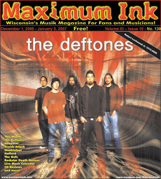The Deftones on the cover of Maximum Ink December 2006