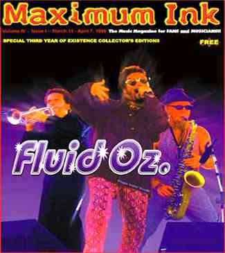 Rockford's Fluid Oz. on the cover of Maximum Ink in March 1999