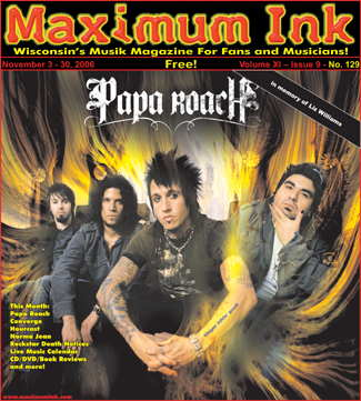 Papa Roach on the cover of Maximum Ink November 2006