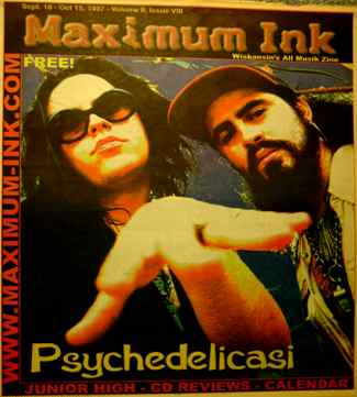 Milwaukee's Pyschedelicasi on the cover of Maximum Ink September 1997