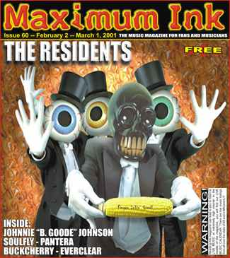 The Residents on the cover of Maximum Ink in February 2001