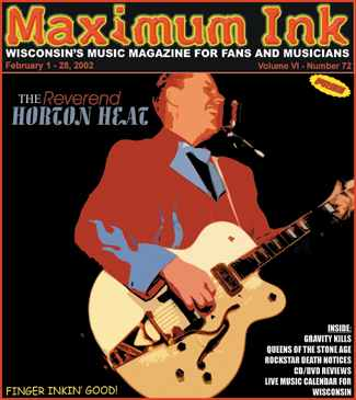 The Reverend Horton Heat on the cover of Maximum Ink in February 2002