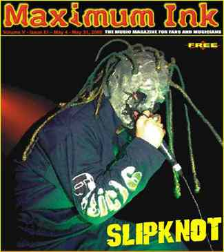 Slipknot on the cover of Maximum Ink in May 2000 - photo by Paul Gargano