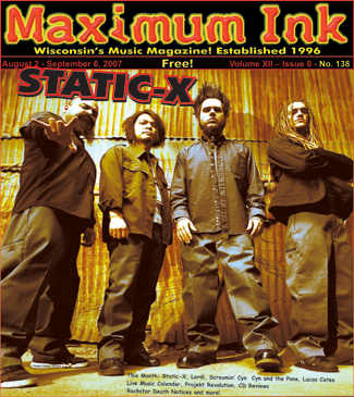 Static-X on the cover of Maximum Ink August 2007