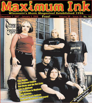 Madison's The Ottomon Empire on the cover of Maximum Ink December 2007