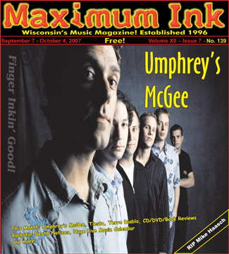 Umphrey's McGee on the cover of Maximum Ink September 2007