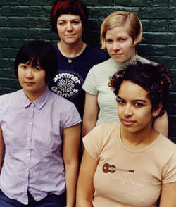 All Girl Summer Fun Band in Maximum Ink in September 2003 - photo by Michael Lavine