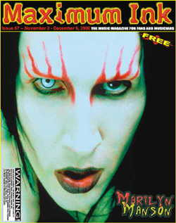 Marilyn Manson on the cover of Maximum Ink in November 2000