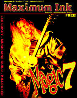 Paul Schluter of Madison's Magic 7 on the 7th cover of Maximum Ink in September 1996 - photo by Craig Gieck
