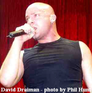 David Draiman - photo by Phil Hunt