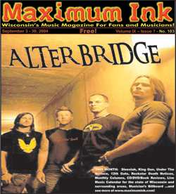 Alter Bridge on the cover of Maximum Ink