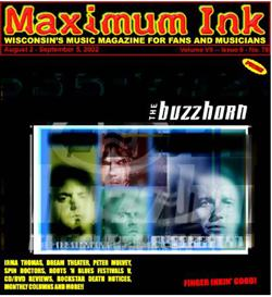 Milwaukee's The Buzzhorn on the cover of Maximum Ink in August 2002