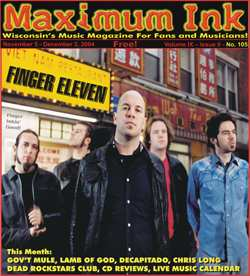 Finger 11 on the cover of Maximum Ink in November 2004