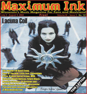 Italy's Lacuna Coil on the cover of Maximum Ink in July 2004