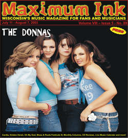 the Donnas on the cover of Maximum Ink in July 2003