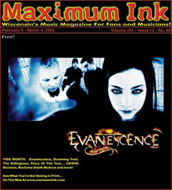 Evanescence on the Cover of Maximum Ink in February 2004