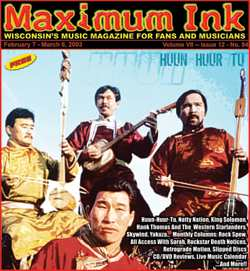 Huun Huur Tu on the cover of Maximum Ink