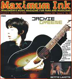 Jackie Green on the cover of Maximum Ink in August 2003