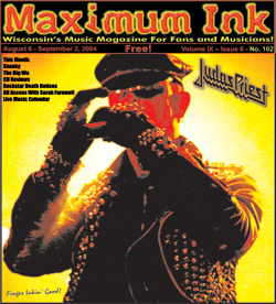 Judas Priest on the cover of Maximum Ink in August 2004 - photo by Craig Gieck
