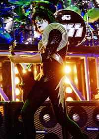 Kiss' Tommy Thayer plays Ace Frehley - Photo by Adam Bielawski