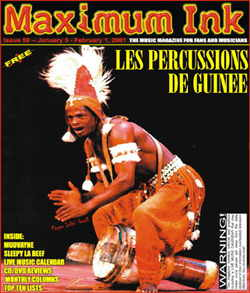 Les Percussions De Guinee on cover of Maximum Ink in January 2001