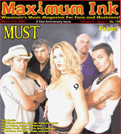 Madison's MUST - Men Under Sexual Tension on the cover of Maximum Ink in March 2005