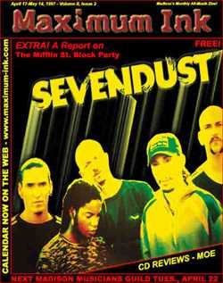 Sevendust on cover of Maximum Ink one month after changing their name from Crawlspace.... April 1997
