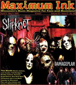 Slipknot's second time on the cover of Maximum Ink