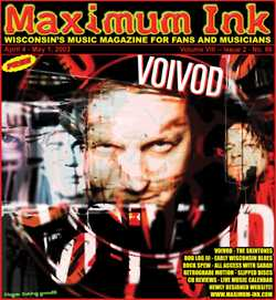 Voivod on the cover of Maximum Ink in April 2003