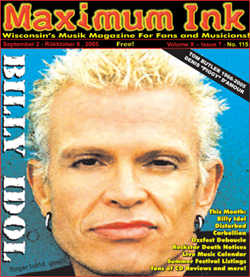 Billy Idol on the cover of Maximum Ink