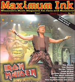 Iron Maiden's Bruce Dickinson on the cover of Maximum Ink in June 2005 - photo by Paul Gargano