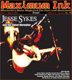 Jesse Sykes and the Sweet Hereafter on the cover of Maximum Ink in April 2005
