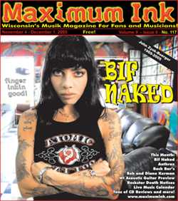 Bif Naked on cover of Maximum Ink
