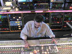 Ethan Willoughby mixing at the Record Plant