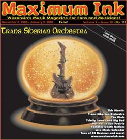 Trans Siberian Orchestra on cover of Maximum Ink in December 2005